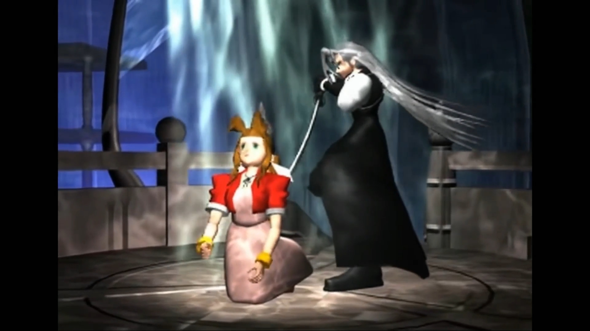 FF7 舞い降りたセフィロスに刀で差されるエアリス