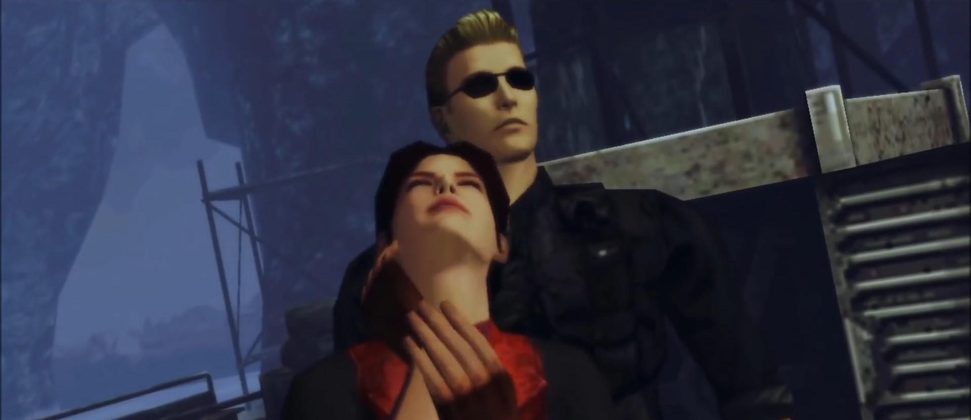 バイオコードベロニカ ウェスカーがクレアを人質にしている