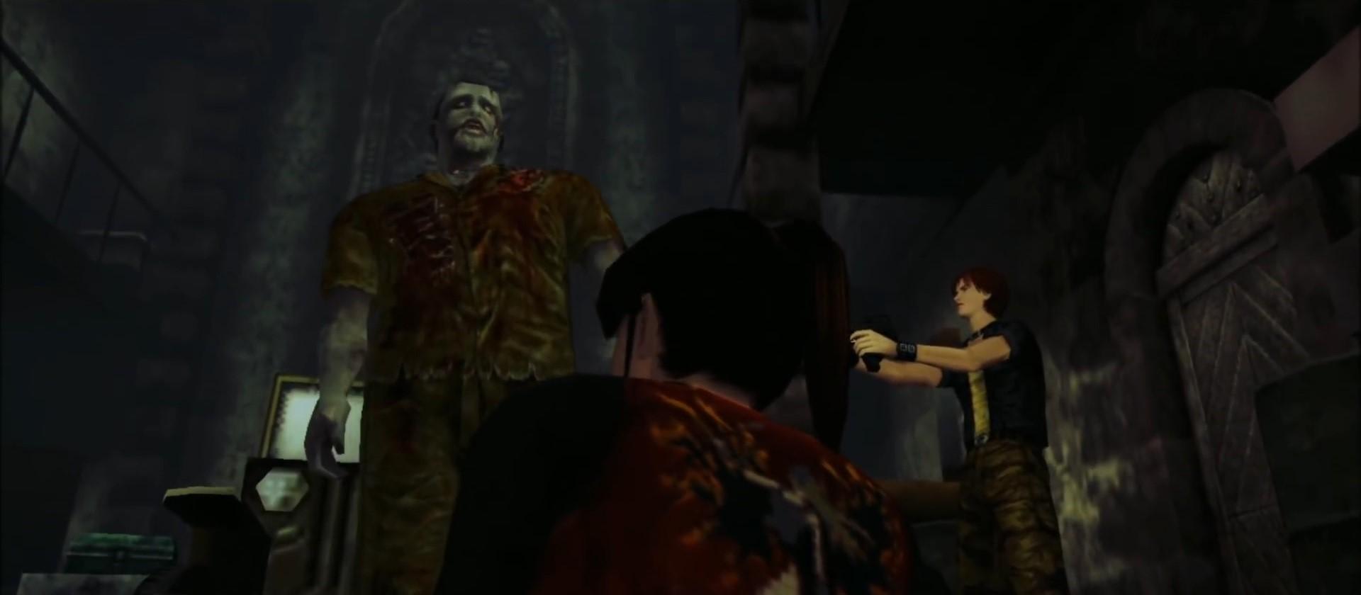 バイオコードベロニカ スティーブがゾンビ化した父を撃つ